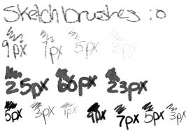 Sketchies Brushes by thelilartist