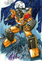 commission sunstreaker by markerguru