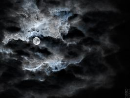 Moon and Clouds by nouvellecreation