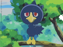 Murkrow for Cr0wCr4w by hitokage-san