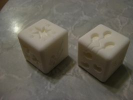 Pony Dice - the finished print by Henry-Crun