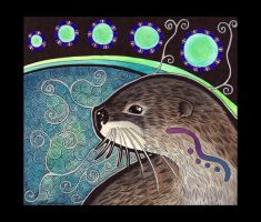 River Otter as Totem by Ravenari