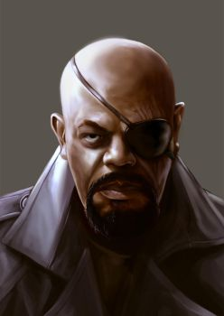Nick Fury by MaruGawa