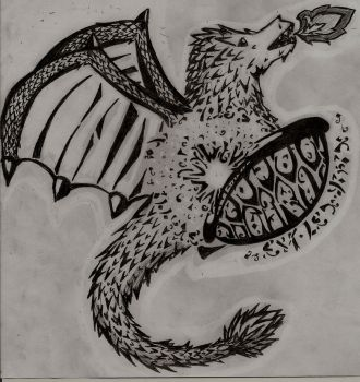 Dragon-Turtle Drawing Thingy by Motoje