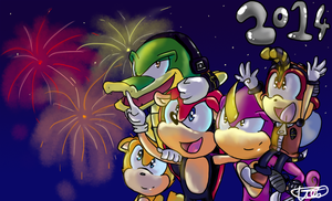 Happy new year featuring Team Chaotix by Spiiiii
