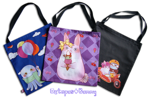 Octopus and Bunny Tote Bags! by OctopusandBunny