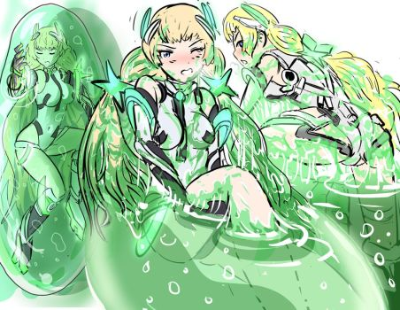 Angela Balzac in Slime Pod by Silkyfriction