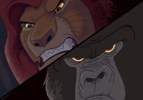 Disney Brawl - Mufasa vs Kerchak -- Mufasa WINS! by NostalgicChills