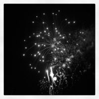 black and white fireworks by september28