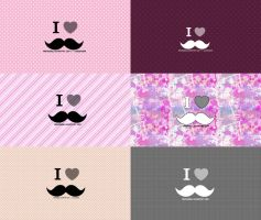 6 Wallpapers Moustache by AreMySoul