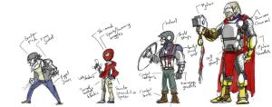 Marvel Fan redesigns sketch by SkipperWing