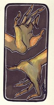 hands of nothingness bookmark by Elleir