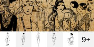 Vintage Fashions PS Brushes by Designslots
