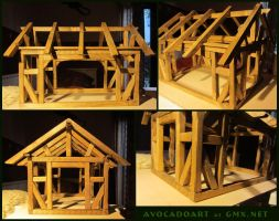 timber frame house by AvocadoArt