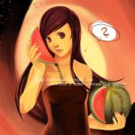 A melon as a phone? by mibou