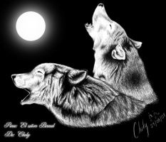Wolfs to the moon... by Chely2006