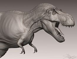 T-Rex 3D Model WIP 6 by FoxHound1984