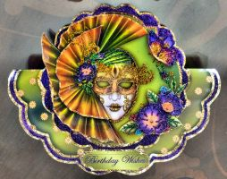 Chelle's Ornate Mask Birthday Card by blackrose1959