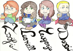 Bookmarks for Christmas by Nadalien