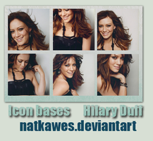 Icon bases - Hilary Duff by Natkawes