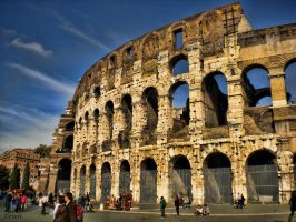 Colosseum outside by cristilaceanu