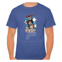 Dirty Big Top Candy Cane T Shirt by peqpit