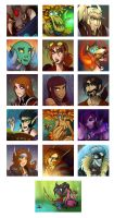 icons - Winter batch II by cazamonster