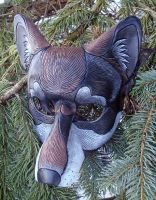 Dark Timber Wolf Mask by merimask