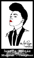 #FemiNoir DAY 6 - Janelle Monae by TheArtRogue