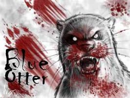Blue Otter Horror Badge by thornwolf