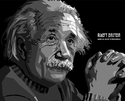 ALBERT EINSTEIN IN WPAP GRAY by Yusuf-Graphicoholic