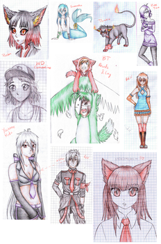 Some doodles 2 by Roksi10
