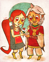 Medli and Komali by lortay