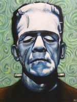 Frankenstein Portrait by Chibazato