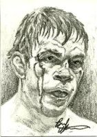 Forrest Griffin sketch card by therealbradu