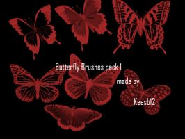 Butterfly brushes pack1 by Keesb12