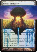 MTG Altered Card: Temple of Mystery by idielastyr