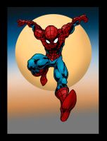 Spiderman Con sketch in color by GinoDrone