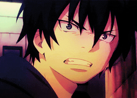 Ao no exorcist: Rin Okumura gif. by ThePeculiarCase