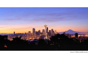 Seattle Skyline Sunrise HDR by photoboy1002001