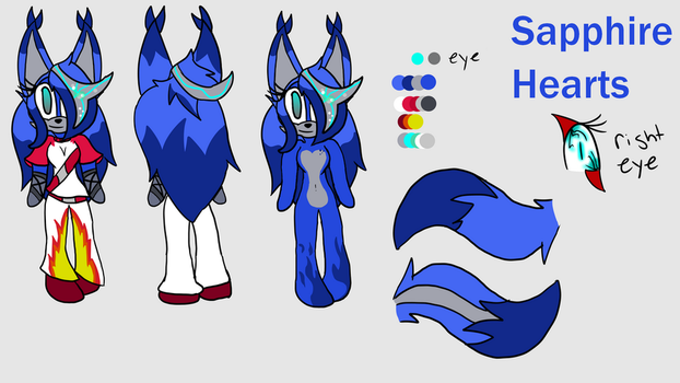 Sapphire Hearts ref by TheLuckyOneX
