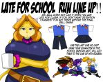 LATE FOR SCHOOL RUN LINE UP by ShoNuff44
