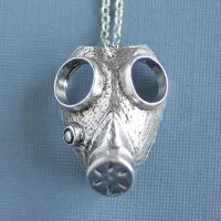Large Gas Mask Necklace by foowahu-etsy