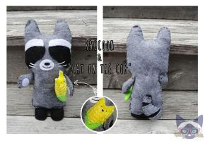 Raccoon and Cat Cob by Alley-Kats
