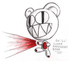 Super Radiohead Bear by wingless730