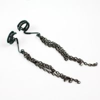Chained in Smoke Ear Cuffs by sylva