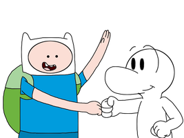 Finn and Fone Bone doing fists by MarcosLucky96