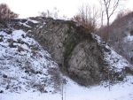 Rock with snow by Olgola