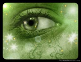 Green Eye by Silaynne