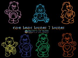 Care Bears Brushes by RagdyDesigns